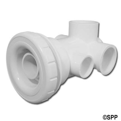 "10-5050: Jet Assembly, HydroAir 3 Port Butterfly, 1-1/2""S  Water x 1""S  Air, White"