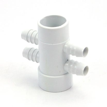 "72044: Manifold, PVC, GG Ind, Opposing,1-1/2""S x 1-1/2""Spg x (4) 3/4""RB Ports"