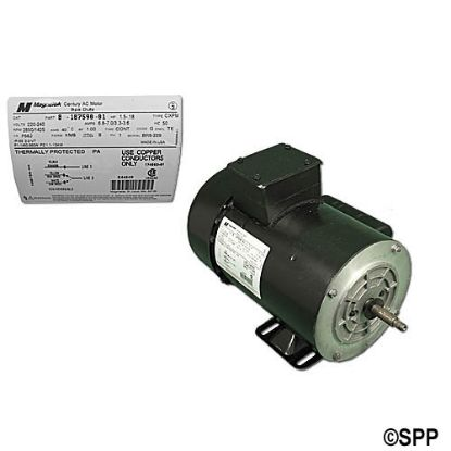 MTR602436: Motor, A.O.Smith, Square Flange, 48-Frame, 2-Speed, 1.5HP, 230V, 10.0/3.5 Amp