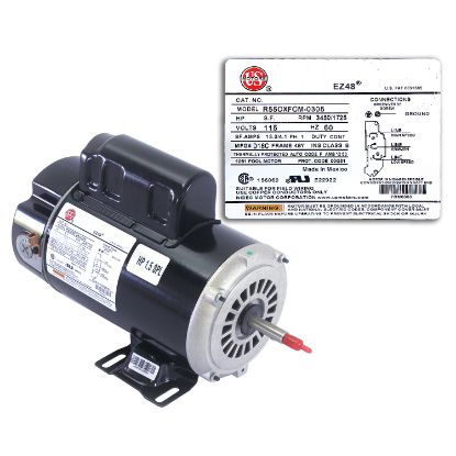 BN50V1: Motor, A.O.Smith, Thru-Bolt, 48-Frame, 2-Speed, 1.5HP, 115V, 16.4/4.4 Amp