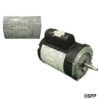 1203006487: Motor, Bluffton, C-Face Threaded, 56J-Frame, 1-Speed, .50HP, 115/230V, 16.0/8.0 Amp