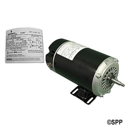 EZBN35: Motor, Emerson, Thru-Bolt, 48-Frame, 1-Speed, 1.5HP, 115/230V, 7.7/15.4 Amp