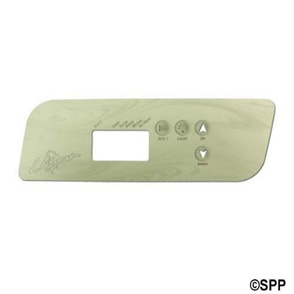 PL49533: Overlay, Spaside, LA Spa (Gecko) TSC44, 4-Button, 1-Pump, No Blower, For PL49530