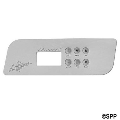 PL49536: Overlay, Spaside, LA Spa (Gecko) TSC44, 6-Button, 2-Pump, Aux, For PL49530