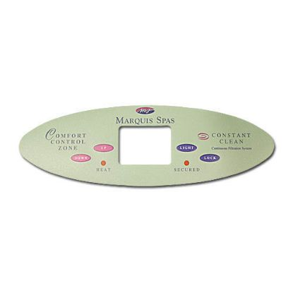 "650-0656: Overlay, Spaside, Marquis (Balboa) MTSII, Serial Standard, 11"" Oval, 4-Button, Up-Light, Down-Lock"