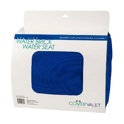 WATERBRICKBL: Pillow, Covervalet, Waterbrick Seat Cushion, Blue