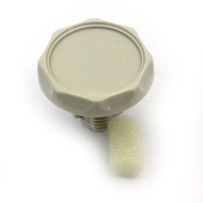 "SA-4159-K: Knob, Air Control, HydroBath, 1"", Scalloped, Bone"