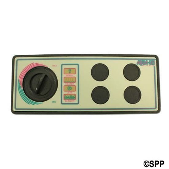 "930850-516: Spaside Control, Air, Len-Gordon Aquaset, 230V, 4-Button, No Display w/Overlay, 8-1/4"" x 3-5/16"""