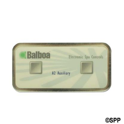 51216: Spaside Control, Balboa Auxiliary, 2-Button, Used On M2/M3 Systems, 6 Pin Phone cable