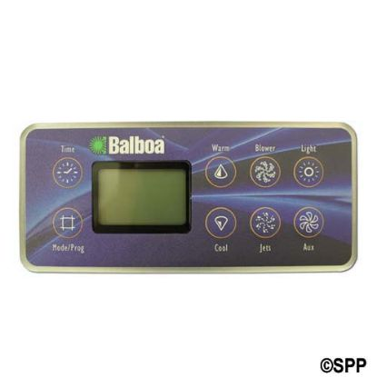 54128: Spaside Control, Balboa Serial Deluxe, Millenium, 8-Button, LCD, Jet-Aux-Blower