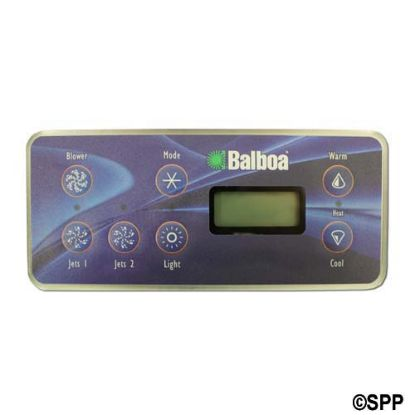 53189: Spaside Control, Balboa VL701S, Serial Standard, LCD, 7-Button, Blower-Mode-Up, Pump1-Pump2-Light-DN