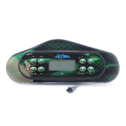 ELE50371: Spaside Control, Cal Spa (Balboa) Large Dash GL w/Bezel, 8-Button, LCD, Jet1-Jet2-Option