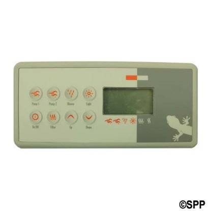 3-00-7221: Spaside Control, Gecko TSC-8-GE1, 8-Button, LCD, On/Off-Pump1-Pump2-Blower, 10' Cable, w/8 Pin JST Plug