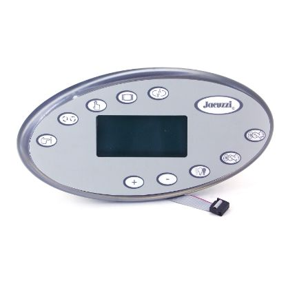 2600-323: Spaside Control, Jacuzzi J-300, 2002-2006, Oval, 10-Button, LCD, Cycle-Mode-Pump1-pump2