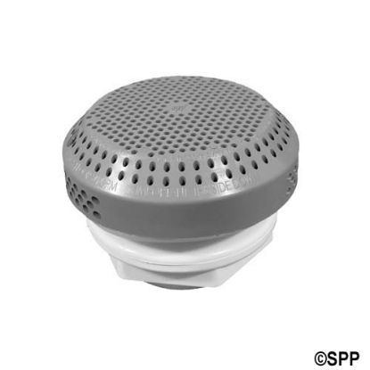 "640-3257V: Suction Assembly, Waterway, VGB, Hi-Flo, 3-3/4""Dia Cover, 1-1/2""S x Standard Nut, Gray"