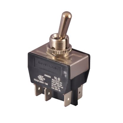 TG2-1: Switch, Toggle, DPDT, 6 Terminals, 16 Amp @ 125/250V