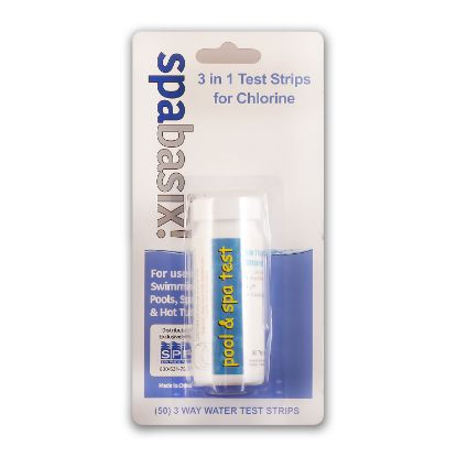 PTK07-3WAY: Test Strips, Spabasix!, Free Chlorine, pH, Total Alkalinity