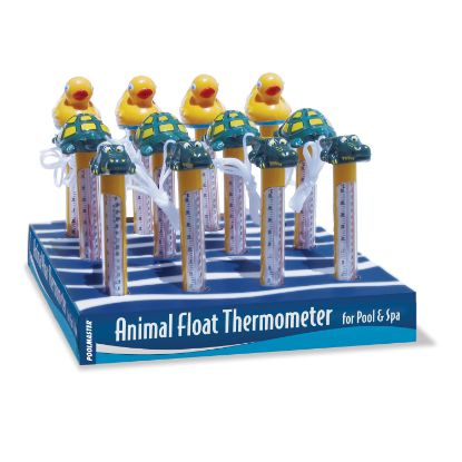 PM25296: Thermometer, Floating Animals, Case of 12 Assorted