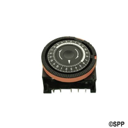 TA4079: Time Clock, Diehl, 24HR, 115V, 16A, 5-Terminal, SPDT, Red