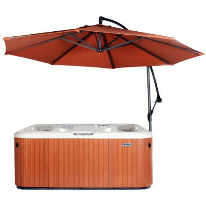 CVUMRUST: Umbrella, CoverValet, Spaside w/Base, Rust