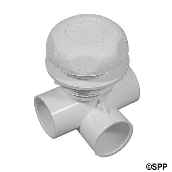 "600-4380: Valve, On/Off, Waterway, 2-Port, 1"" Horizontal 2-Port, White"