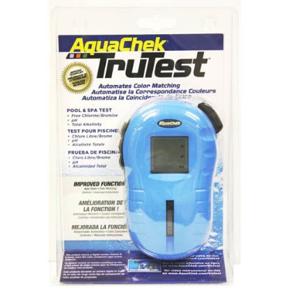 2510400: Water Testing, Aquacheck, Tru-Test, Blue Digital Reader, Free Chlorine, pH & Alk, 25 Per bottle